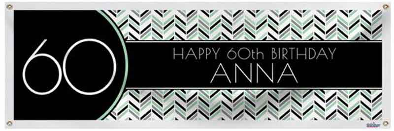 personalized 60th birthday banner