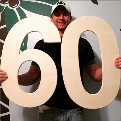 3d wooden letters 60