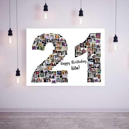 milestone birthday photo collage print