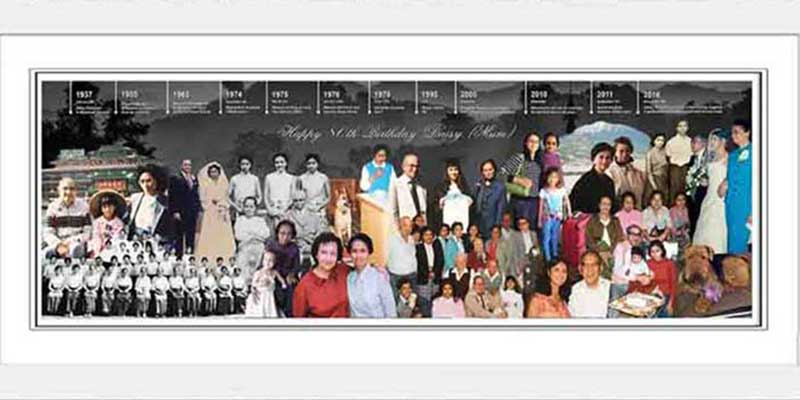 timeline style photo collage