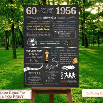 60th birthday facts