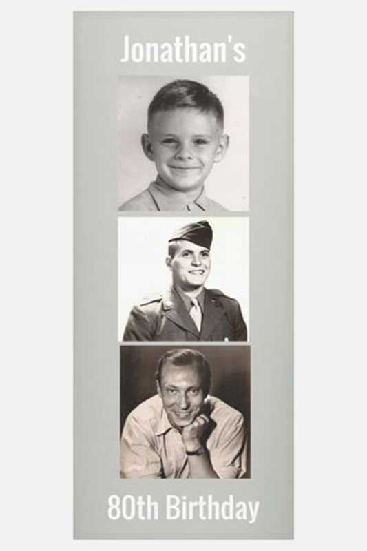 Through the Years photo banners
