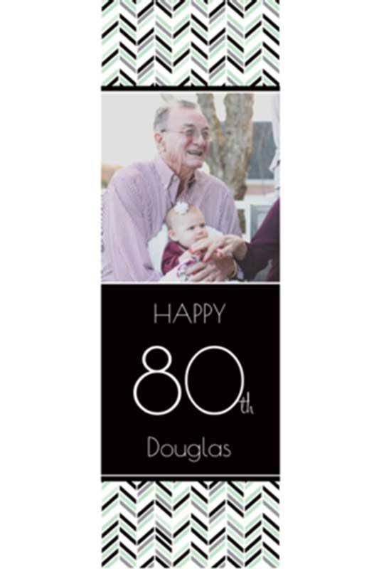 custom photo milestone birthday banners