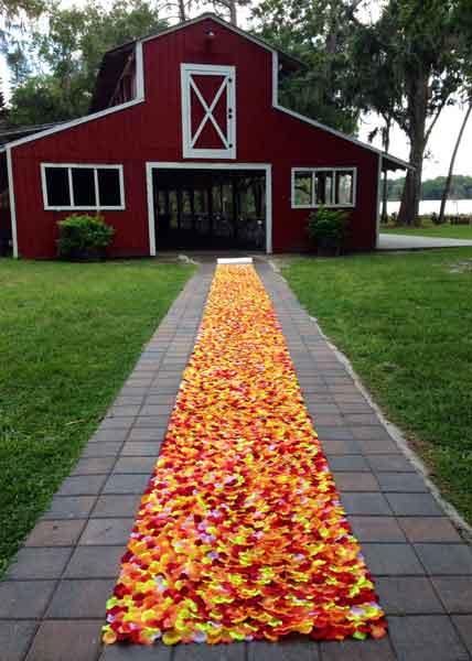 rose petal aisle runner
