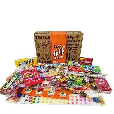 retro candy milestone birthday party