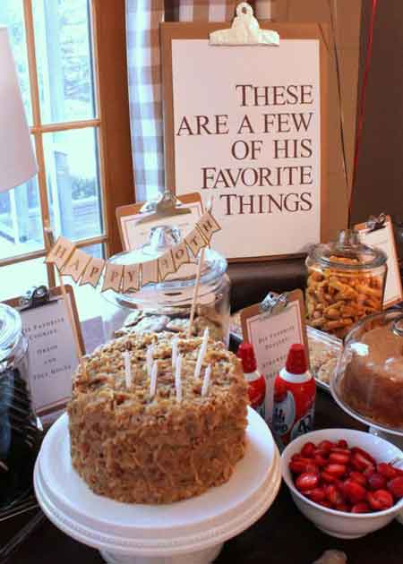 a few of my favorite things buffet table