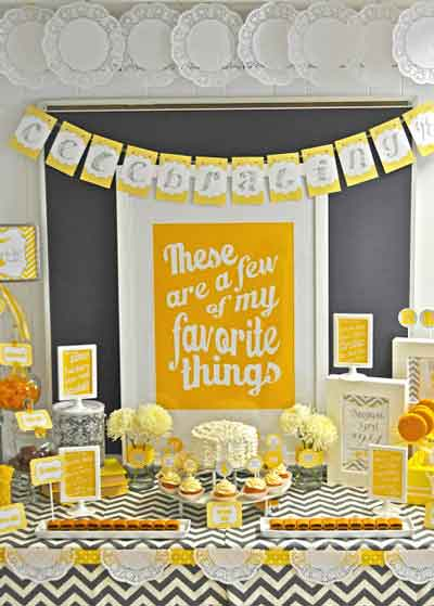a few of my favorite things dessert table