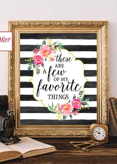 a few of my favorite things printable sign