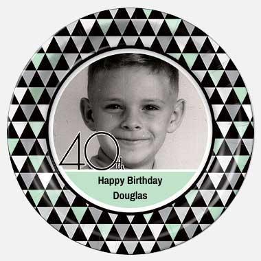 custom photo 60th birthday paper plates