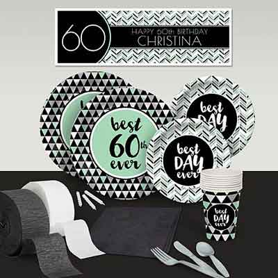 Best Day Ever 60th birthday party supplies