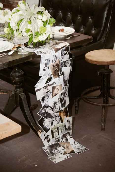 Through the Years photo table runner