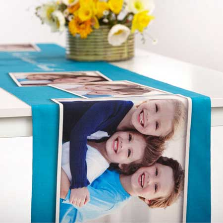photo collage table runners