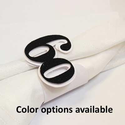 60th birthday napkin rings