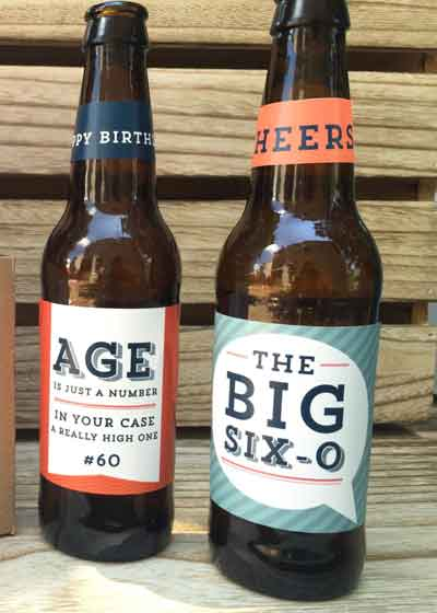 personalized beer bottle labels milestone birthday party
