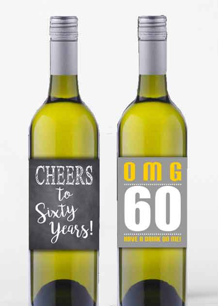 personalized wine bottle labels 40 and fabulous