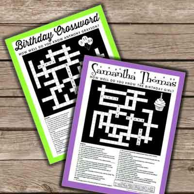custom crossword puzzles