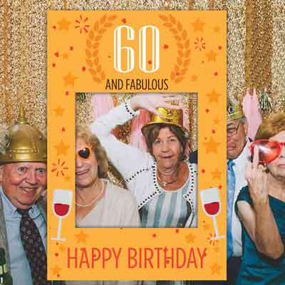 60th birthday party photo booth props