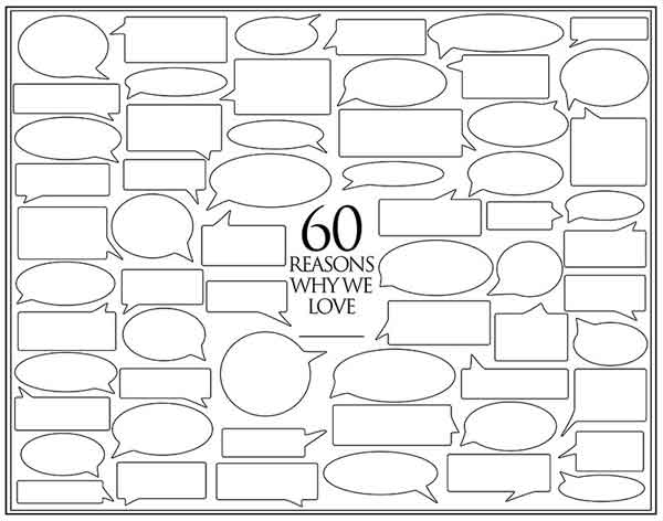 60 reasons why we love you template