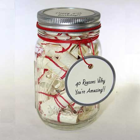 60 reasons we love you jar of messages