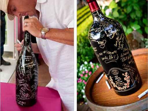 60th birthday party alternative guest book wine bottle