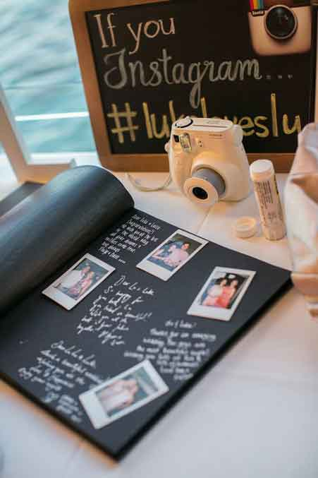 60th birthday party polaroid guest book idea