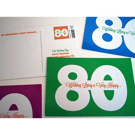 60 messages from 60 friends postcards