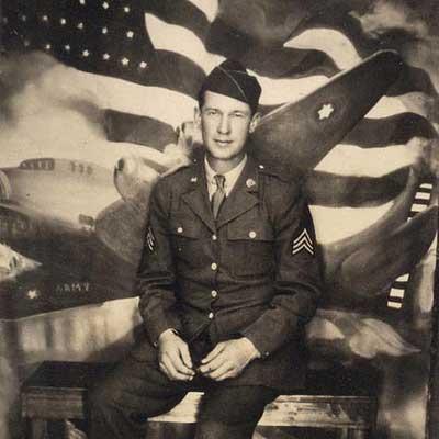 vintage photo man in airforce uniform