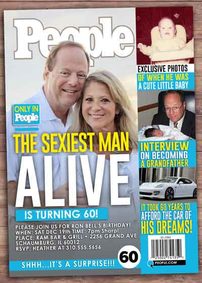 People magazine cover invitation