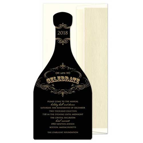 champagne bottle invitation