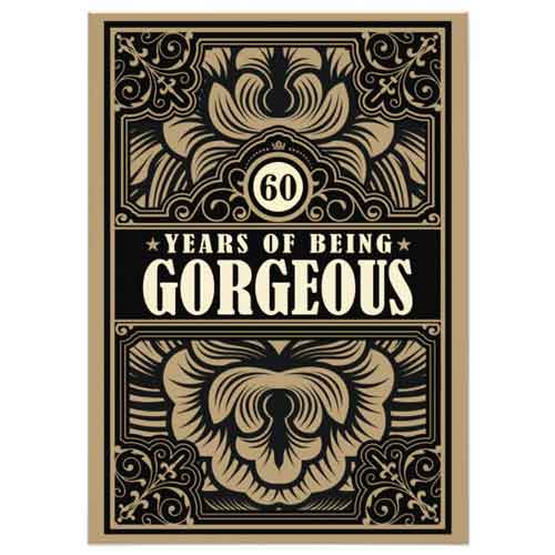 60 years of being gorgeous invitation