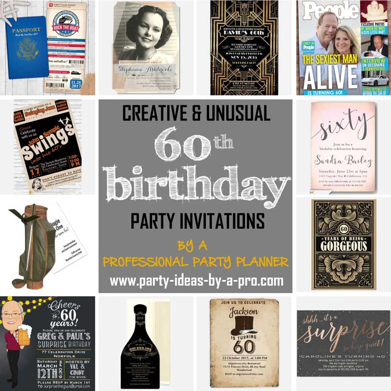 The Best 60th Birthday Invitations By A Professional Party Planner