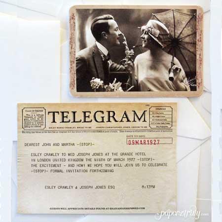 60th Birthday Party Telegram Invitation