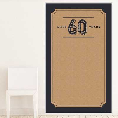 Aged to Perfection 60th birthday backdrop