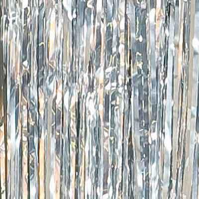 silver foil metallic curtain