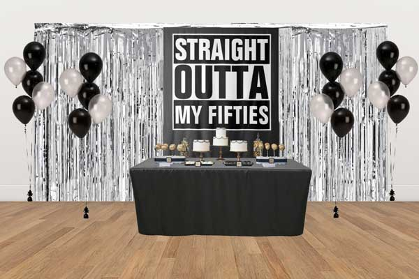 Straight Outta My Fifties dessert table
