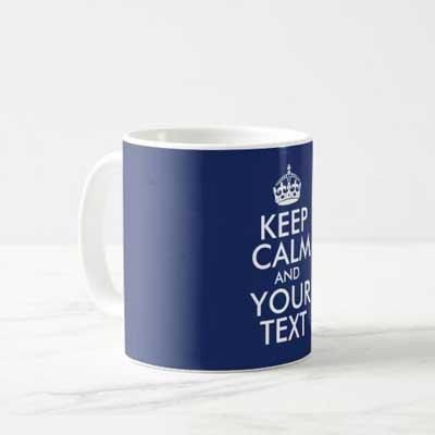 Custom Keep Calm mug