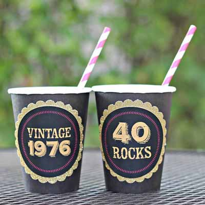 40/50/60 Rocks party cups