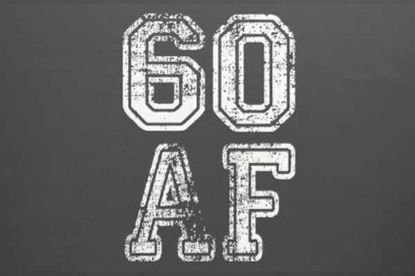 60 AF party theme