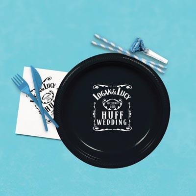 custom Jack Daniels party plates