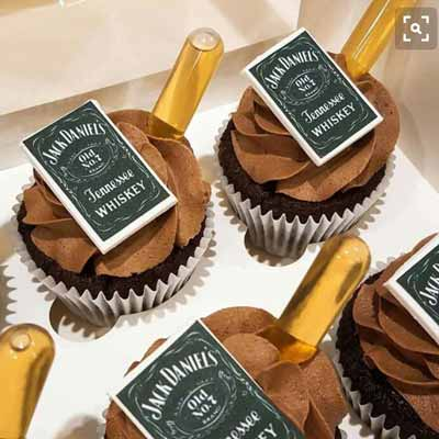 Jack Daniels cupcakes with pipettes