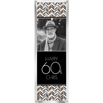 Best Day Ever 60th birthday custom banner