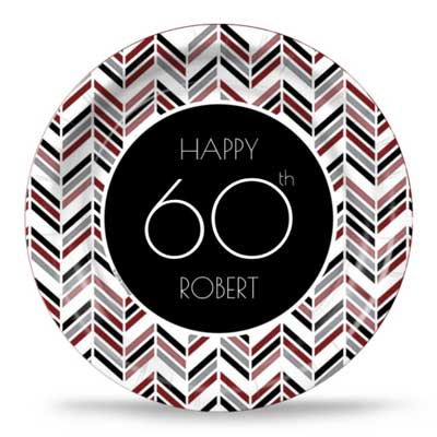 Best 60th Ever red party plates