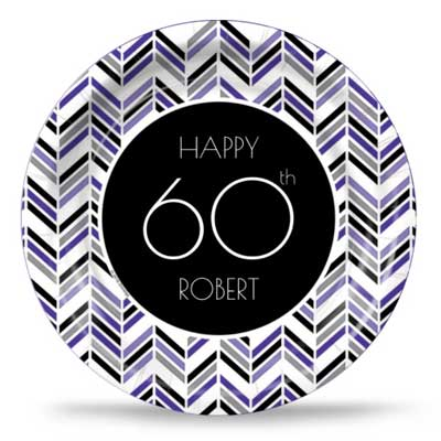 Best 60th Ever purple party plates