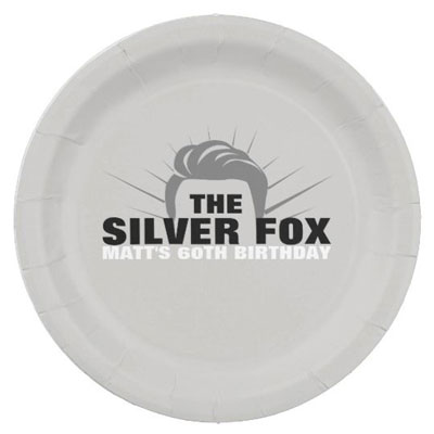 The Silver Fox party plates