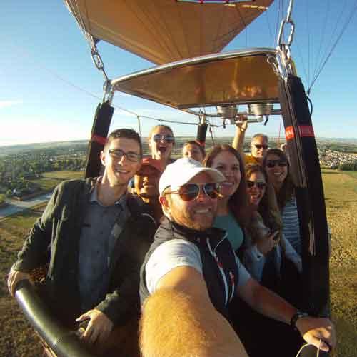 Hot Air Balloon Ride & Wine Tour