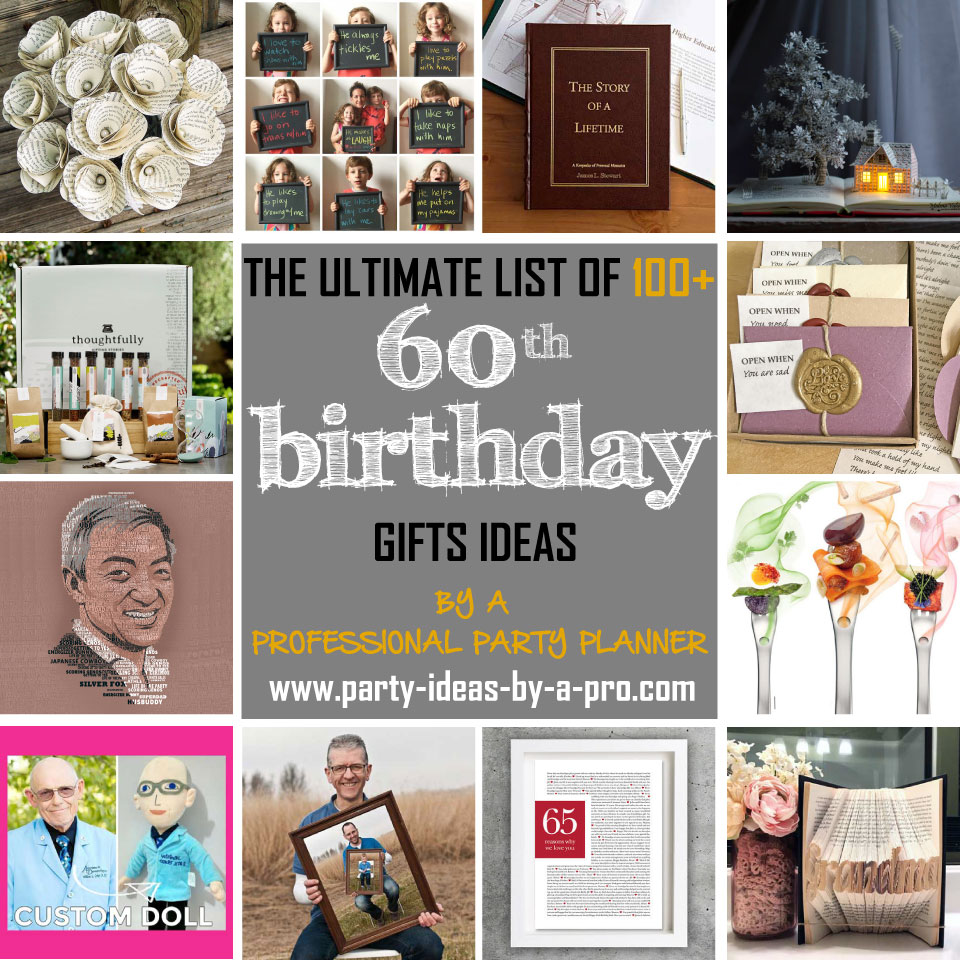 100 60th Birthday Gifts By A Professional Party Planner