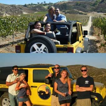 Jeep & Winery Tours