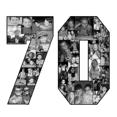 70th birthday photo collage