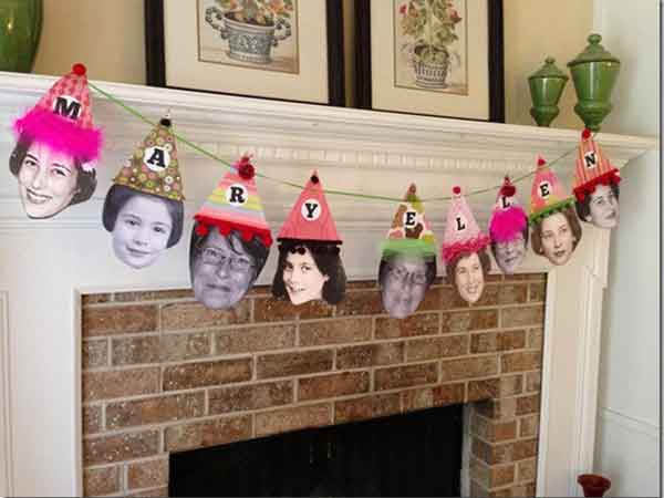 custom photo face banner decorations