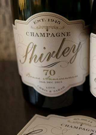 personalized champagne bottle labels